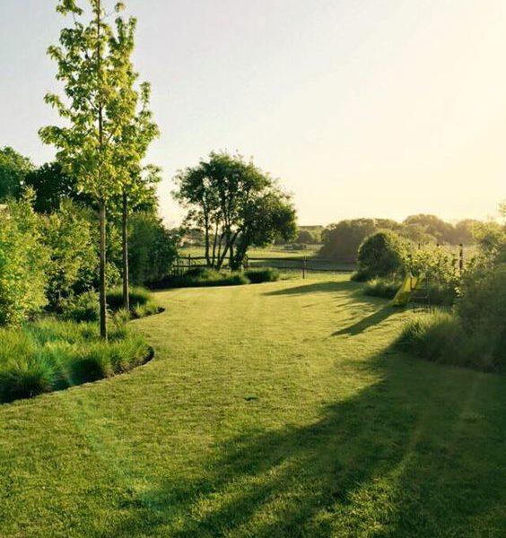 tuinaanleg van een landschappelijke tuin
