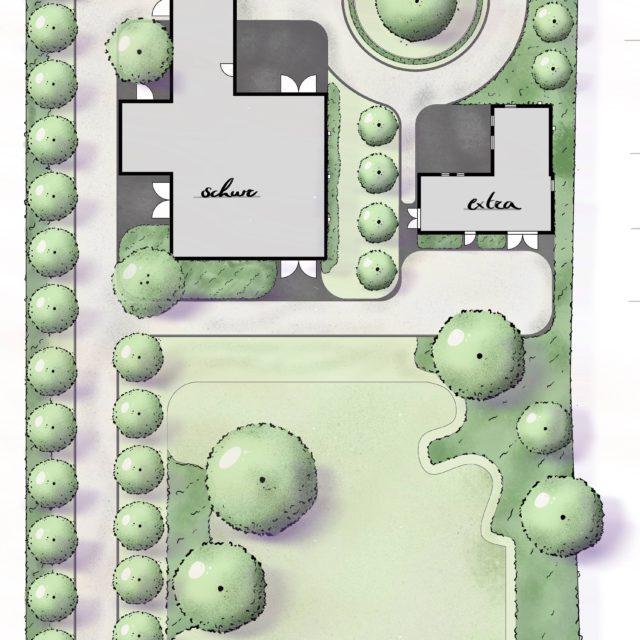 Klassieke tuin met moderne touch ontwerp door Hofheren
