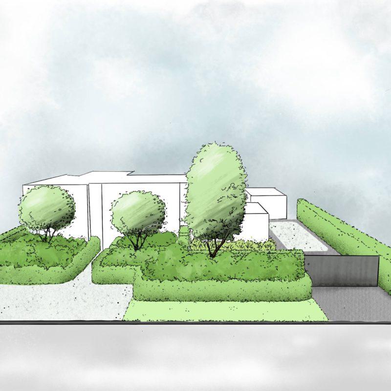 landschappelijke vijvertuin ontwerp door de hofheren